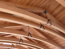 Tetraleaf - Veneered Teak Trusses with Steel Brackets, Office of Thierry Despont