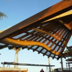WRC and Teak Rafters & Arches, Pahinahina Residence, de Reus Architects
