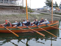 The Plume-long boat, built by HomePort students