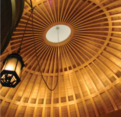 Tetraleaf Veneered White Oak Dome, private synagogue, Thierry Despont, Ltd.